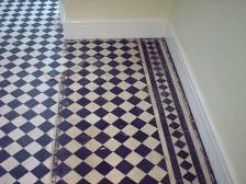 Before Picture - A Victorian Tile Floor in Cheshire Restored by Tile Doctor